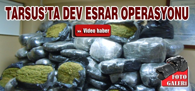 Tarsus'ta Dev Esrar Operasyonu/Video Haber
