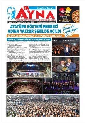 Tarsus Online Haber Gazetesi - Tarsus Haberleri - 29.12.2018 Manşeti